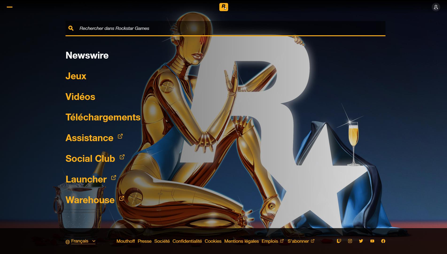 Rockstar Games : Nouveau design pour le site internet de ...