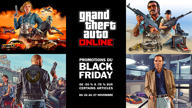 soldes du black friday sur gta online du 24 au 27. Black Bedroom Furniture Sets. Home Design Ideas
