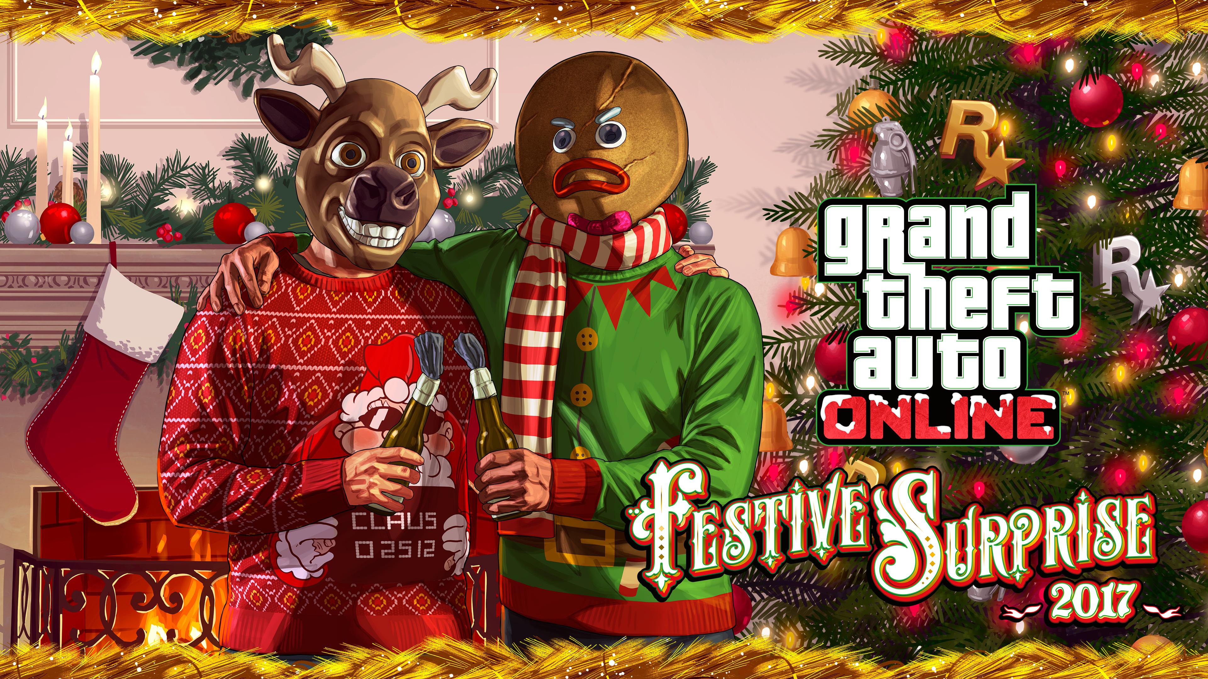Gta 5 Christmas.Les Artworks Officiels De Gta Online
