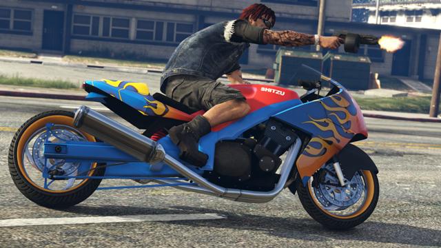 Gta online la mise jour motos boulots bobos est for Deplacer sa moto dans un garage