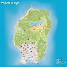 Carte mosaïques de singe GTA 5