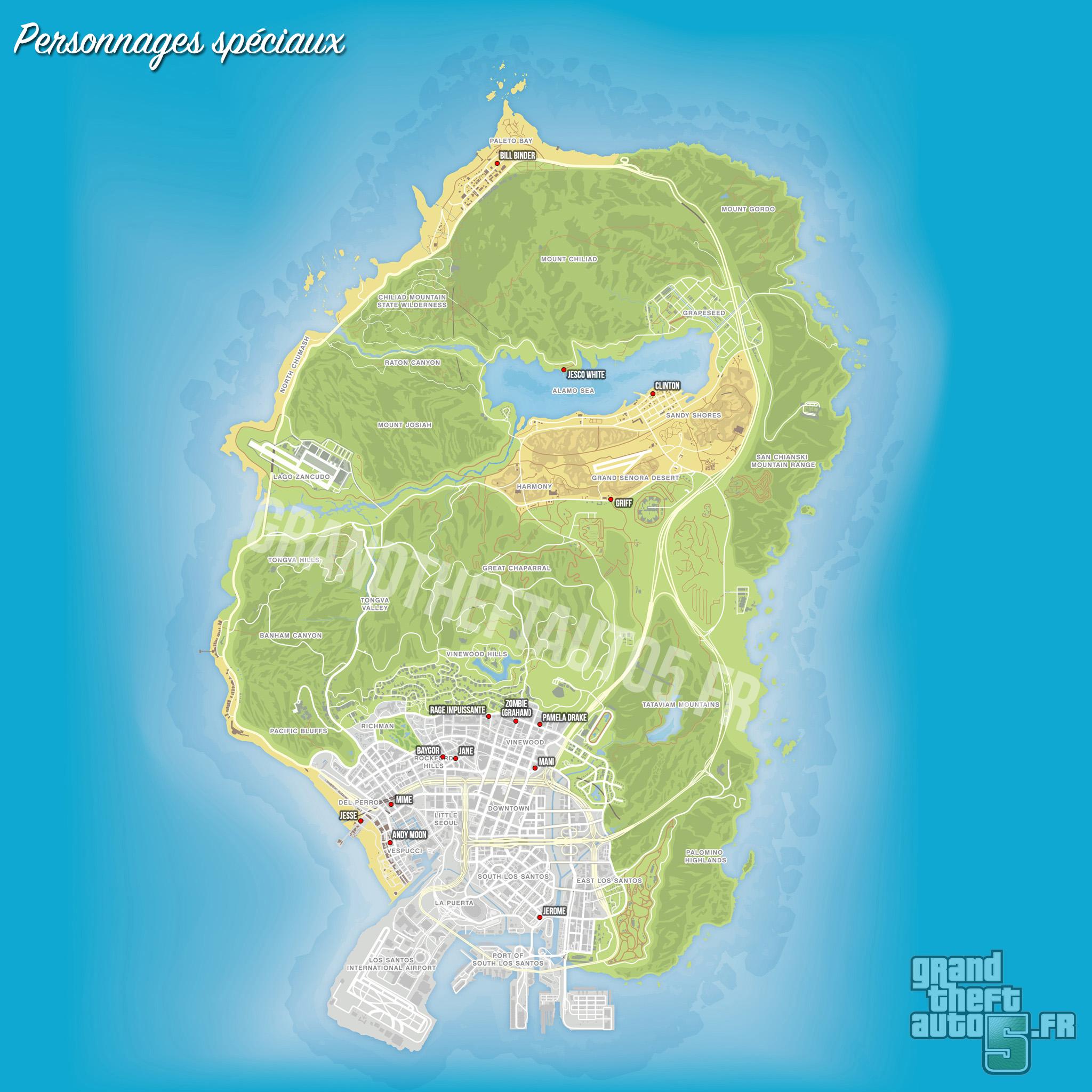 Secret Places Gta 5 Ps4: Les Personnages Spéciaux De GTA 5 / GTA V