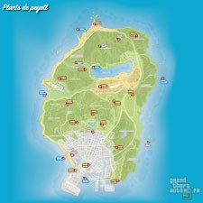 Carte plants de peyotl GTA 5