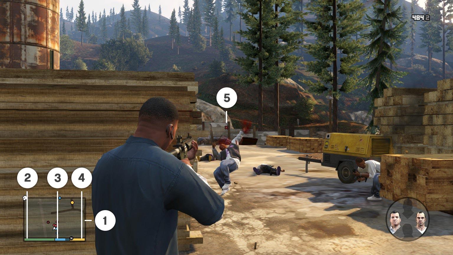 GTA 5 / GTA V : Les commandes Xbox 360