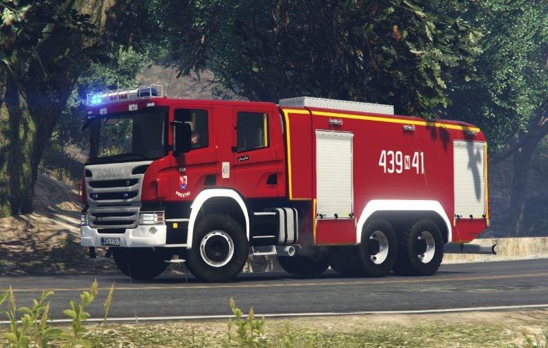 Camion de pompiers Scania P450