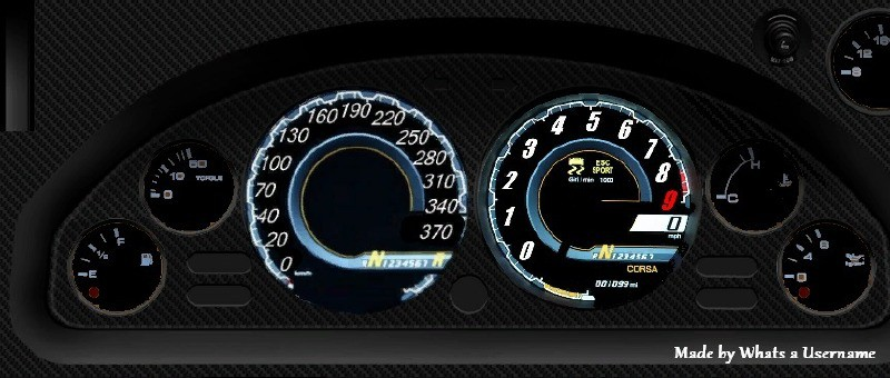 Lamborghini Aventador Gauges for Zentorno