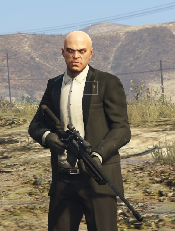 Agent 47 Hitman Replacement for Trevor