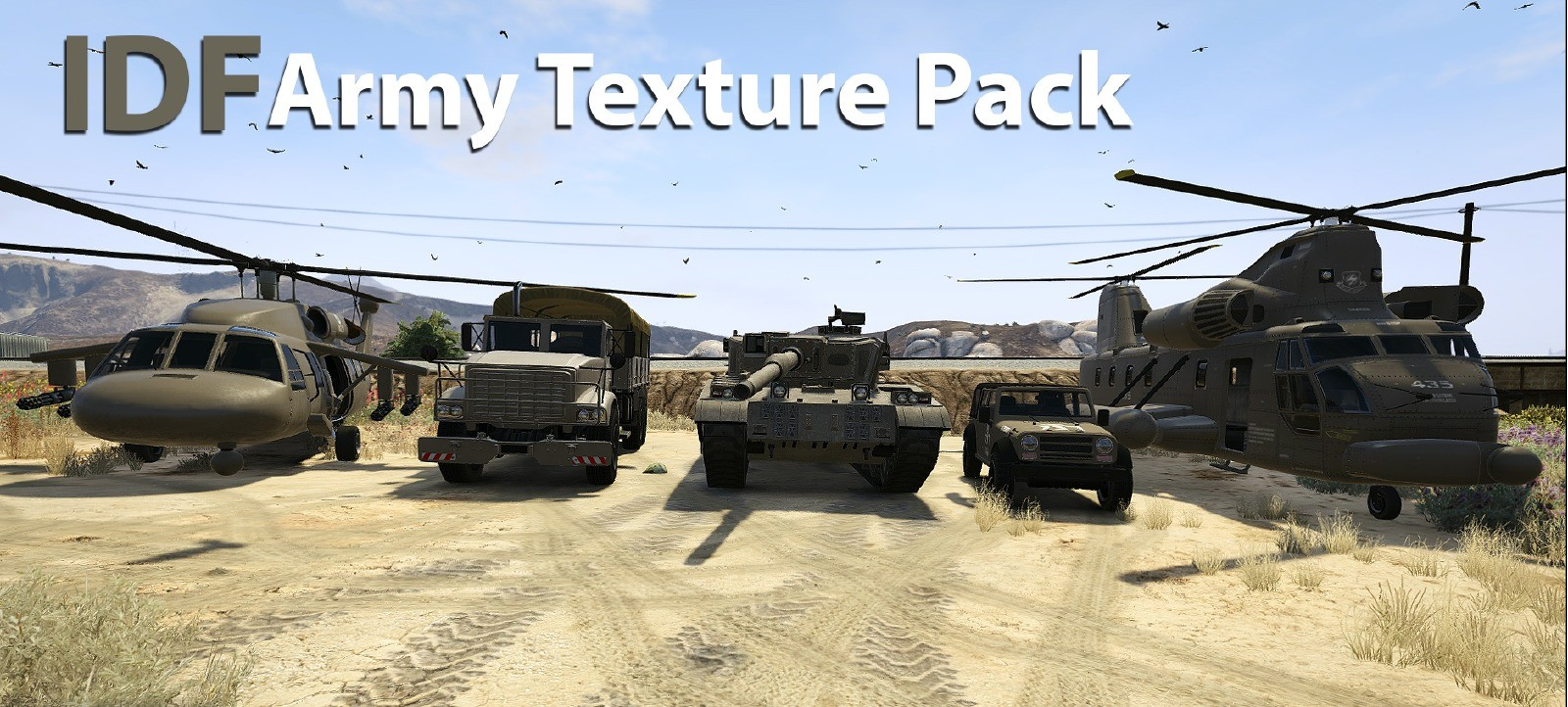"""""""IDF"""" Army Color Texture Pack"""