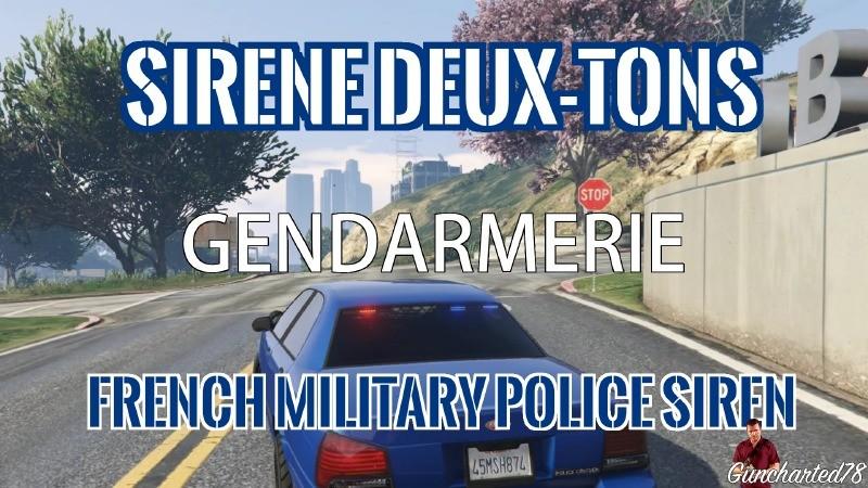 sir ne deux tons gendarmerie fran aise mods t l chargements gta 5. Black Bedroom Furniture Sets. Home Design Ideas