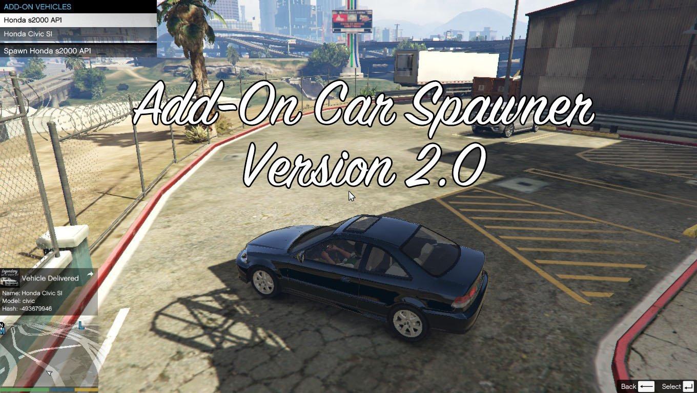 Add-On Car Spawner Menu