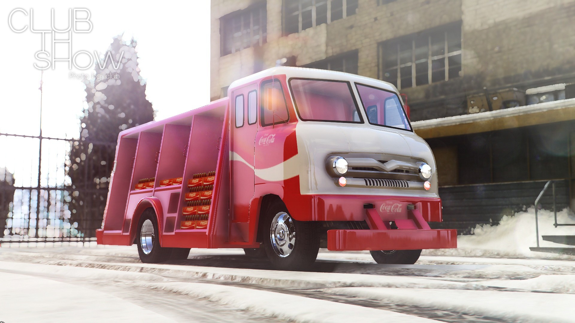 Camion de livraison Coca-Cola Ford P600 1964