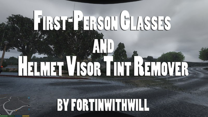 First-Person Glasses and Helmet Visor Tint Remover