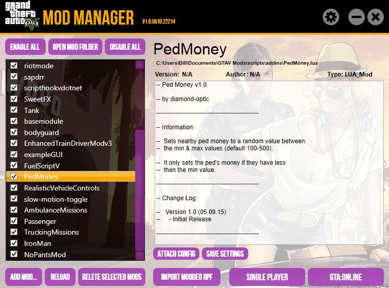 GTA V Mod Manager