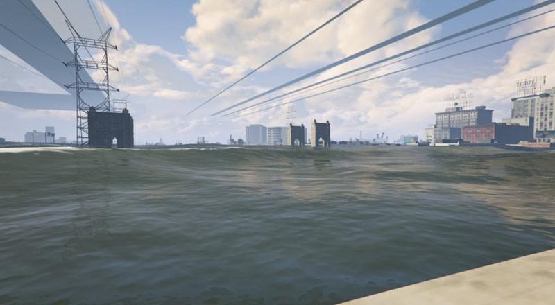 No Water + Tsunami Mod avec différentes profondeurs