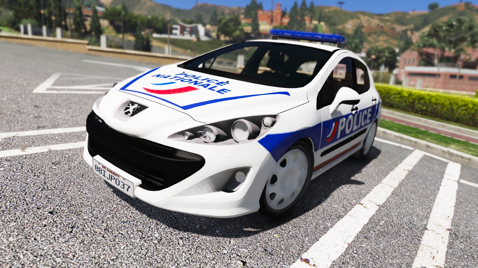 peugeot 308 police nationale v hicules t l chargements gta 5. Black Bedroom Furniture Sets. Home Design Ideas