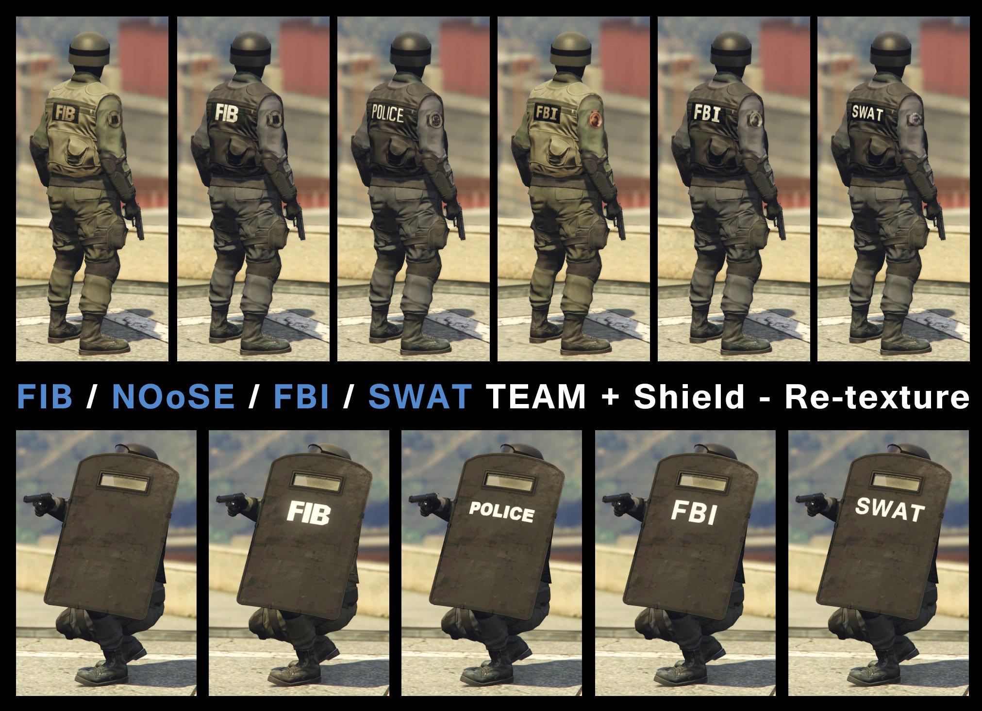 FIB / Noose / FBI / SWAT Team Textures