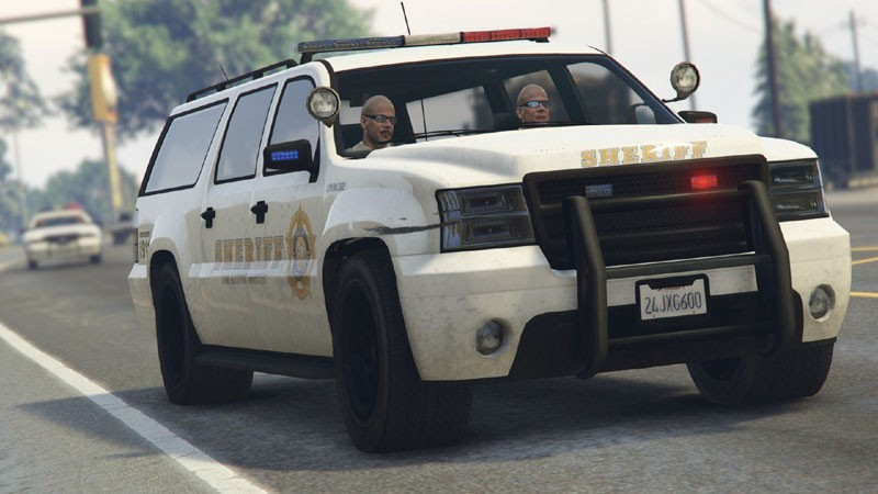 All White Sheriff2 SUV