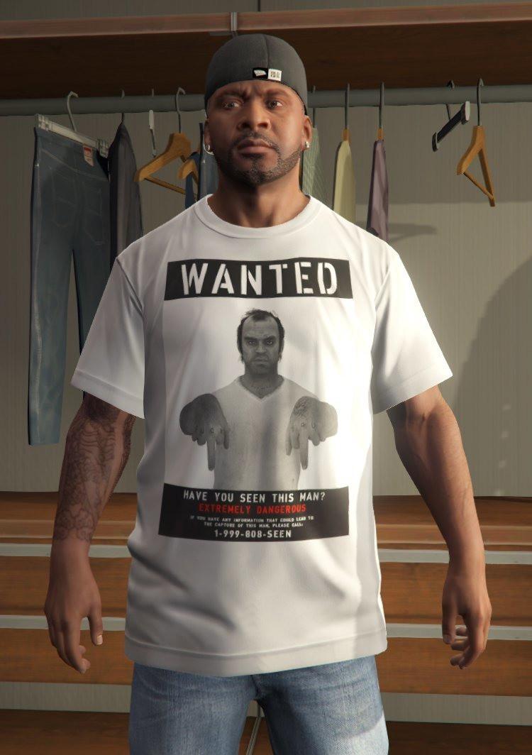 Black GTA V Shirt for Franklin - Skins / Modèles