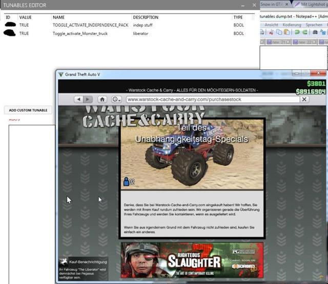 Tunables Editor GTA 5